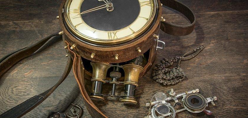 Steampunk Uhren-Tasche