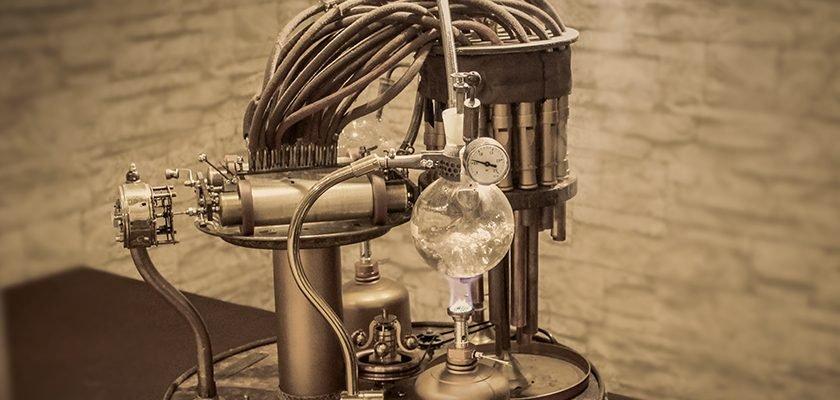 Dampfbetriebene Steampunk-Orgel von Raphaelius Alva Grußer