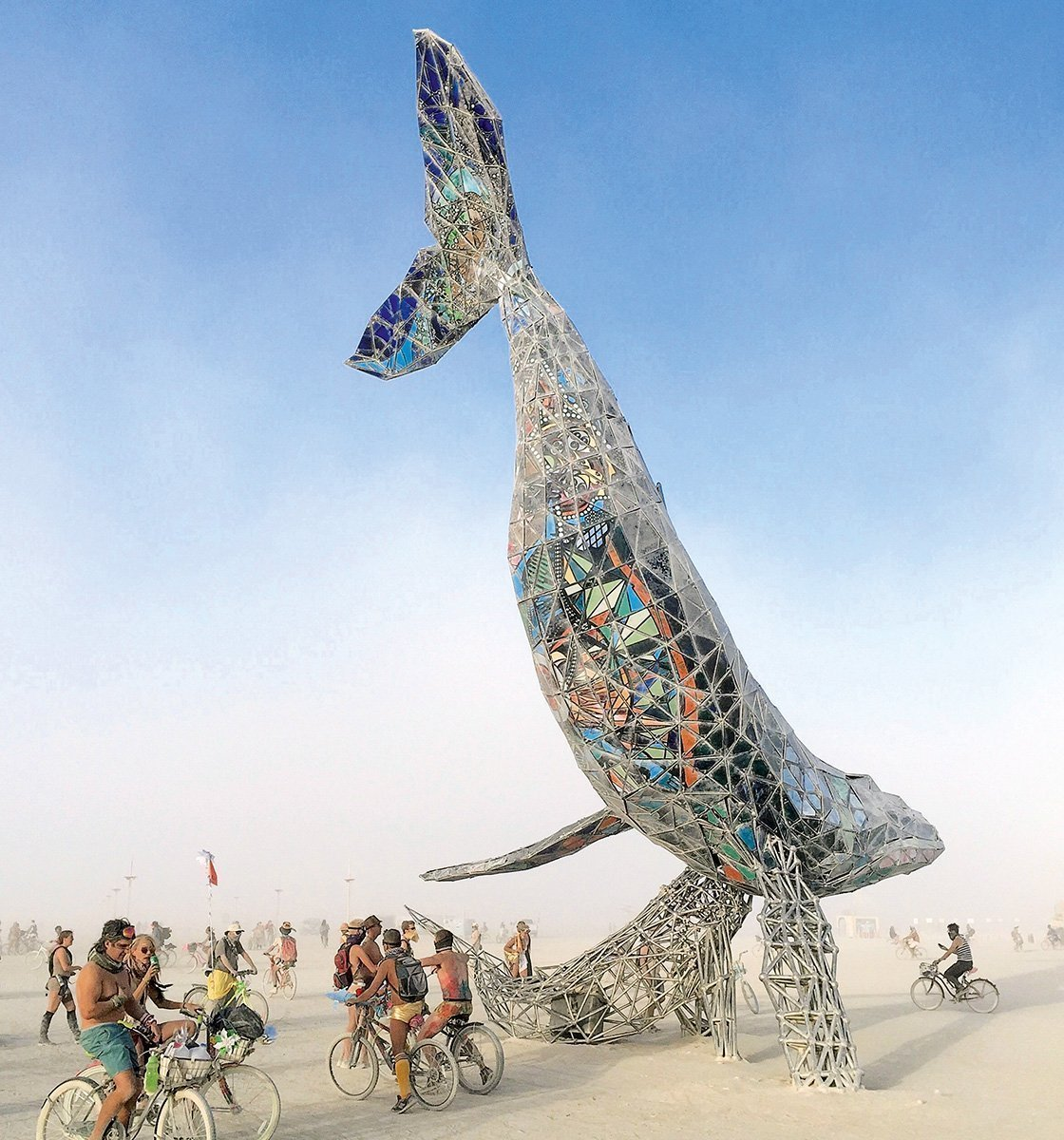 «Space Whale» – «Burning-Man»-Festival 2016