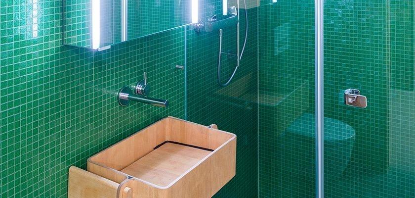 Blick in das Badezimmer einer studentischen Wohngemeinschaft.
