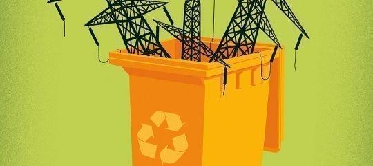 Recycling von Strommasten