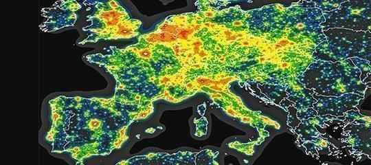 Infrarot-Aufnahme von Europa aus dem All